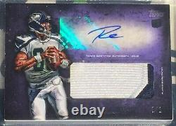 1/1 2012 Topps Inception PURPLE Russell Wilson ROOKIE RC PATCH BGS 8 10 AUTO