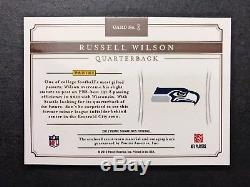 1/1 Russell Wilson 2012 Prime Signatures Football Rookie Auto Card NFL Shield