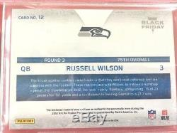 1/1 Russell Wilson ROOKIE Hat Patch BGS 9.5 AUTO Jersey Super Bowl Contenders