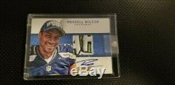 1/1 Russell Wilson ROOKIE JRSY PATCH GREEN AUTO Super Bowl Contenders
