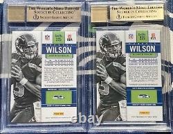 (2) RUSSELL WILSON 2012 CONTENDERS Rookie Ticket RC BGS 9.5 10 AUTO Both Gem+