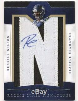 2 Russell Wilson 2012 Panini Prominence letters RC lot Auto SP #/150 Seahawks