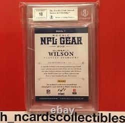 2012 Bgs 9/10 National Treasures Russell Wilson Rookie NFL Shield Auto 1/1