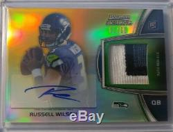 2012 Bowman Sterling RUSSELL WILSON /66 Gold Refractor Patch Auto RC Rookie