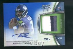 2012 Bowman Sterling Russell Wilson Auto Patch 27/99 RC