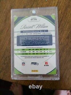 2012 Certified Freshman Fabric Russell Wilson RC Rookie Dual Jersey Auto /499