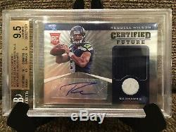 2012 Certified Russell Wilson RC Jersey Auto /175 BGS 9.5 GEM MINT With10 AUTO