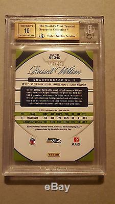 2012 Certified Seahawks Russell Wilson True Rookie jersey/auto 114/499 BGS 10/10