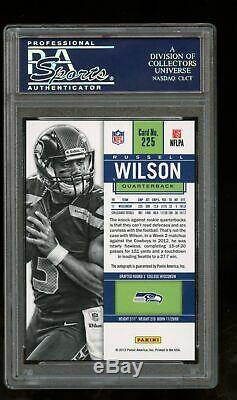 2012 Contenders #225 Russell Wilson Blue Jersey Rc Rookie Auto Autograph PSA 9