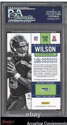 2012 Contenders #225 Russell Wilson RC ROOKIE TICKET Autograph AUTO PSA 10 GEM