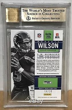 2012 Contenders Cracked Ice Russell Wilson RC Auto BGS 9.5/10