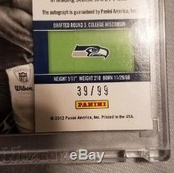 2012 Contenders Football Russell Wilson Playoff Ticket Rookie Auto #39/99