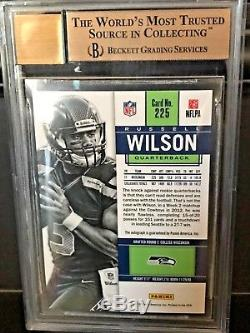 2012 Contenders Rookie Ticket Auto #225A Russell Wilson BGS 9.5 Blue Jersey