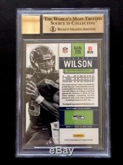 2012 Contenders Rookie Ticket Russell Wilson RC BGS 9.5 BOLD 10 AUTO
