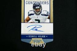2012 Contenders Rookie of The Year Russell Wilson Auto Rare # 8/10 Die cut RC