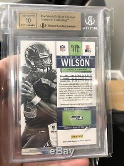 2012 Contenders Russell Wilson RC BGS 9.5 Auto 10 QUAD 9.5 Rookie Ticket PSA 10