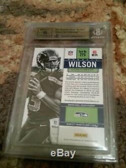 2012 Contenders Russell Wilson Rc Rookie Auto Bold Autograph Bgs 9.5/10 Gem Mint