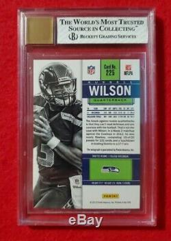 2012 Contenders Russell Wilson Rc Ticket Auto! BGS 8/10
