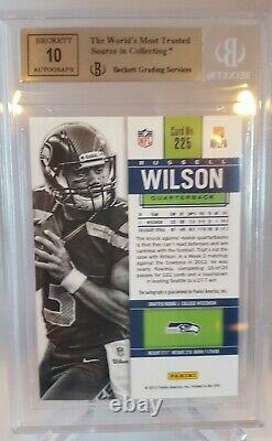 2012 Contenders Russell Wilson Rookie Ticket Auto Autograph SP 550 BGS 9/10 AUTO