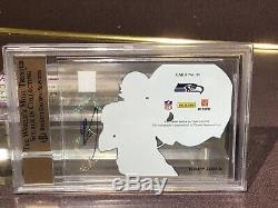 2012 Elite Hard Hats Russell Wilson 75/99 BGS 10/10 Auto Pristine