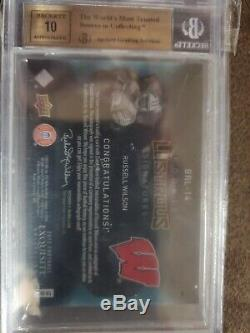 2012 Exquisite Collection/99 #BRL-14 Russell Wilson Seattle Seahawks Auto Rookie