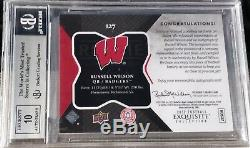 2012 Exquisite Russell Wilson RC Auto Patch #127 BGS 8.5 NM-MT+ #3/3