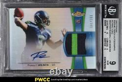 2012 Finest Refractor Russell Wilson ROOKIE RC PATCH AUTO /250 #RAPRW BGS 9 MINT