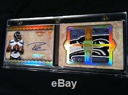 2012 Five Star Russell Wilson 1/1 Logo Rookie Patch Auto AMAZING