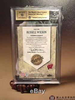 2012 Fleer Retro Russell Wilson Autograph RC BGS 9.5 GEM AUTO 10 ROOKIE Seahawks