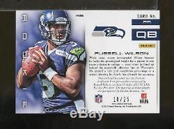 2012 Limited Prime Jumbo Jersey Auto RUSSELL WILSON 18/25 Rookie RC (SC7)