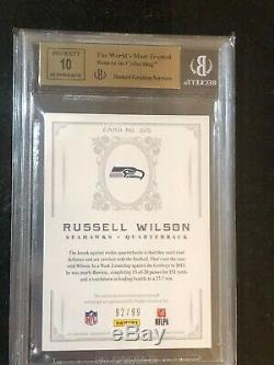 2012 NATIONAL TREASURES RUSSELL WILSON RC AUTO BGS QUAD 9.5s #/99 TRUE GEM