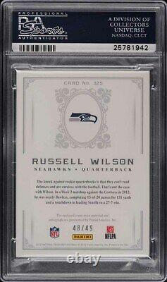 2012 National Treasures Gold Russell Wilson ROOKIE RC PATCH AUTO /49 #325 PSA 10
