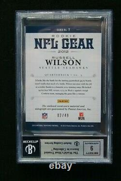 2012 National Treasures NFL Gear Combos Russell Wilson RC # 2/49 BGS 9 with 9 AUTO