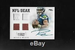 2012 National Treasures Russell Wilson Auto Quad Relic Rookie Card 1/15