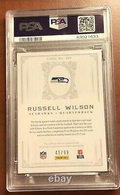 2012 National Treasures Russell Wilson RC RPA PSA 9 Auto Rookie Autograph Patch