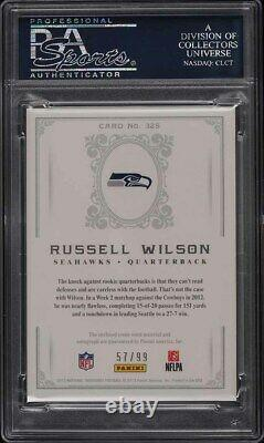 2012 National Treasures Russell Wilson ROOKIE RC PATCH AUTO /99 PSA 10 GEM MINT