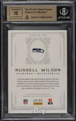 2012 National Treasures Russell Wilson Rpa Rc Patch Auto Bgs 9.5 #/99 True Pmjs