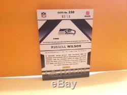 2012 Panini Absolute Russell Wilson Auto Rc. Patch Jersey Autograph 3/10 1/1