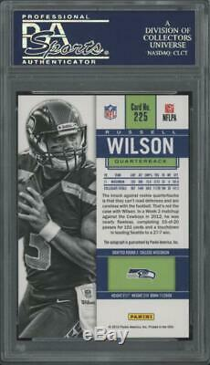 2012 Panini Contenders #225 Russell Wilson Auto Rookie RC Gem Mint PSA 10