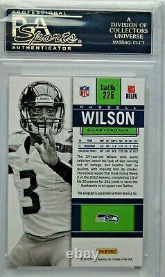 2012 Panini Contenders 225 Russell Wilson White Jersey-AUTO PSA 10