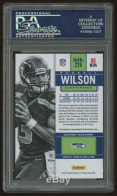 2012 Panini Contenders #225A Russell Wilson Blue Jersey Auto RC Rookie PSA 10