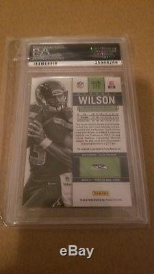 2012 Panini Contenders Blue Jersey Russell Wilson ROOKIE RC AUTO PSA MINT 10