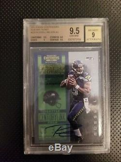 2012 Panini Contenders PLAYOFF TICKET Russell Wilson ROOKIE BGS 9.5 AUTO 9