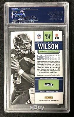 2012 Panini Contenders Rookie Ticket Blue Russell Wilson Seahawks RC AUTO PSA 10