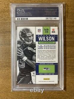 2012 Panini Contenders Rookie Ticket Russell Wilson RC AUTO Blue Jersey PSA 10