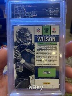 2012 Panini Contenders Russell Wilson Auto RC Rookie Ticket # 225 PSA 10