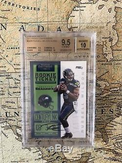 2012 Panini Contenders Russell Wilson BGS 9.5 Gem Mint 10 Auto /550 SP RC
