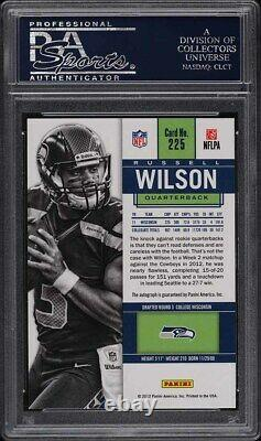 2012 Panini Contenders Russell Wilson ROOKIE RC AUTO #225 PSA 10 GEM MINT