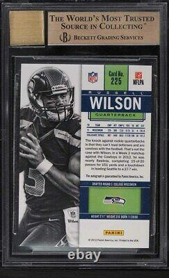 2012 Panini Contenders Russell Wilson ROOKIE RC AUTO #225A BGS 9.5 GEM MINT