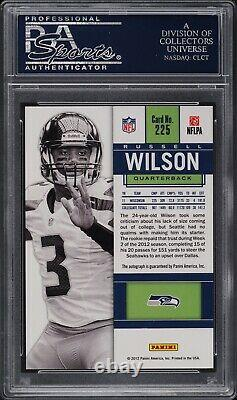2012 Panini Contenders White Jersey Russell Wilson ROOKIE RC AUTO #225 PSA 10